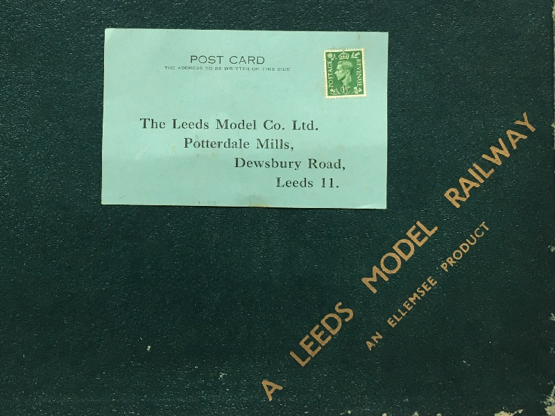Leeds Model Railway Guarantee Card