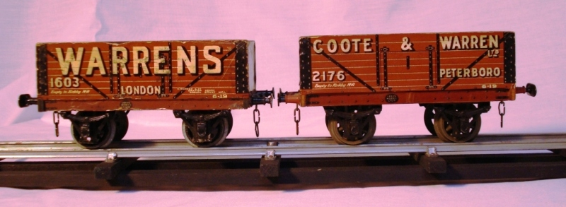 Leeds litho Warrens and Coote and Warrens Coal Wagons
