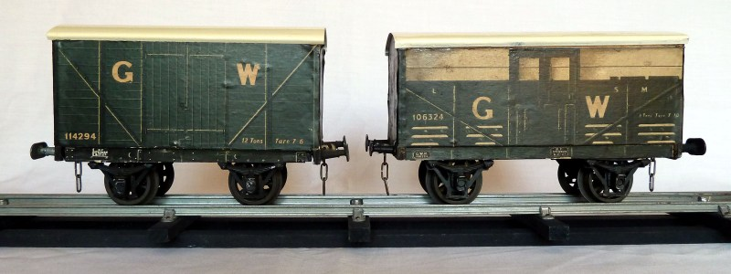 Leeds litho GWR Box Van and GWR Cattle Van