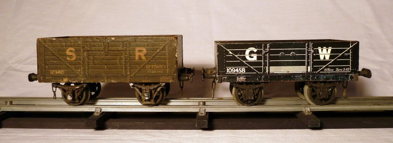 Leeds litho SR and GW Open Wagons
